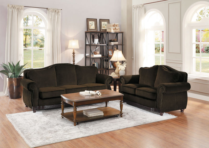 Midwood Living Room Set in Chenille
