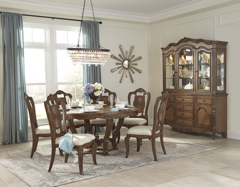 Moorewood Park Formal Dining Room Set with Round Table