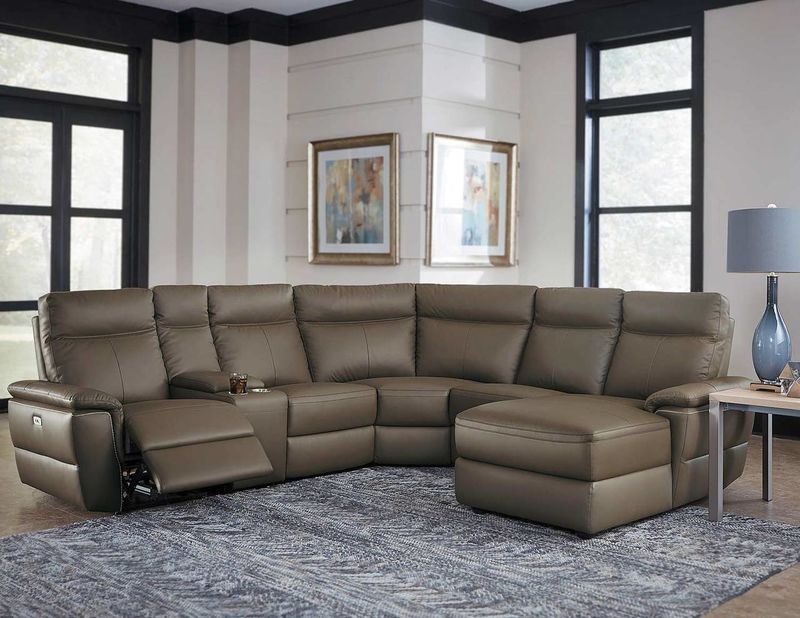 Olympia Power Reclining Leather Sectional