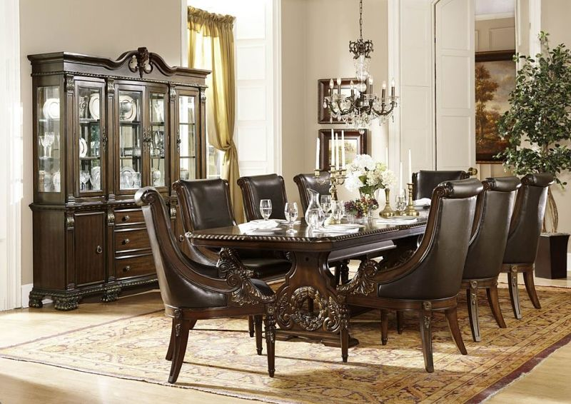2168 Orleans Formal Dining Room Set Dallas Designer Furniture in Cherry