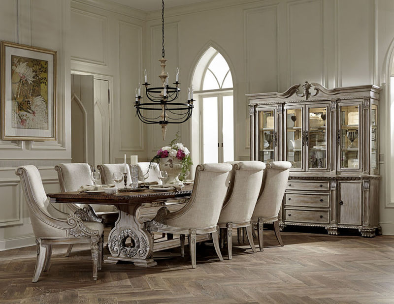 Orleans Formal Dining Room Set in White Wash ... & Dallas Designer Furniture | Orleans Formal Dining Room Set in White Wash