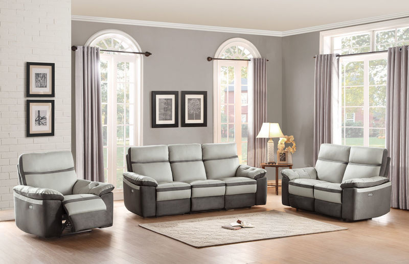 Otto Reclining Leather Living Room Set