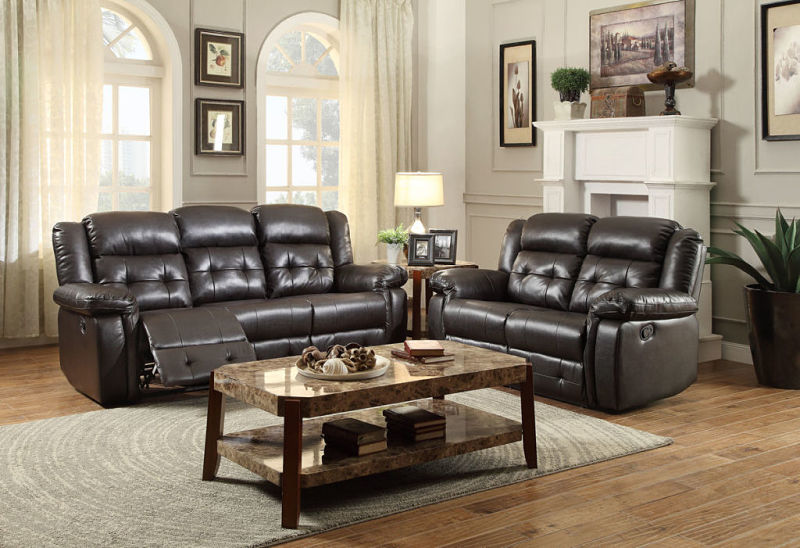 Palco Reclining Living Room Set in Brown