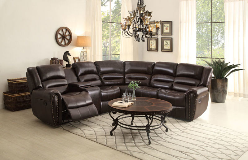 Palmyra Reclining Leather Sectional