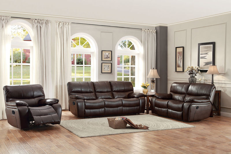 Pecos Reclining Living Room Set in Brown