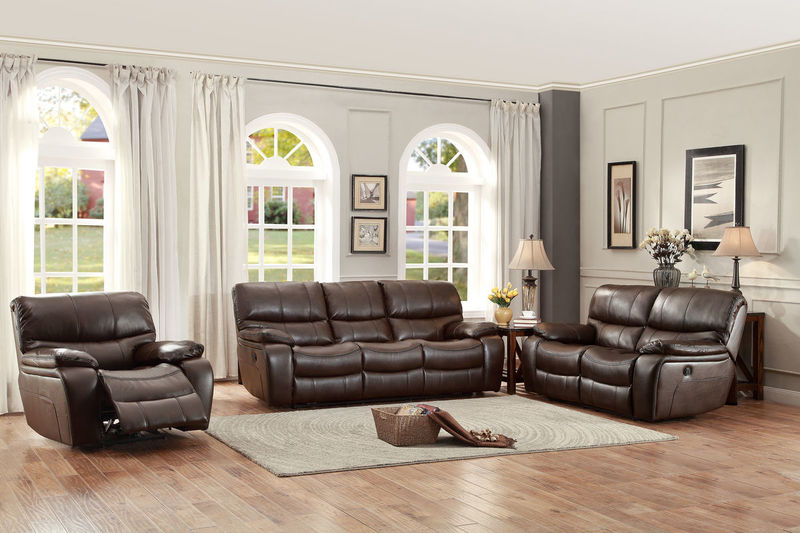 Pecos Reclining Living Room Set in Brown with Power Motion