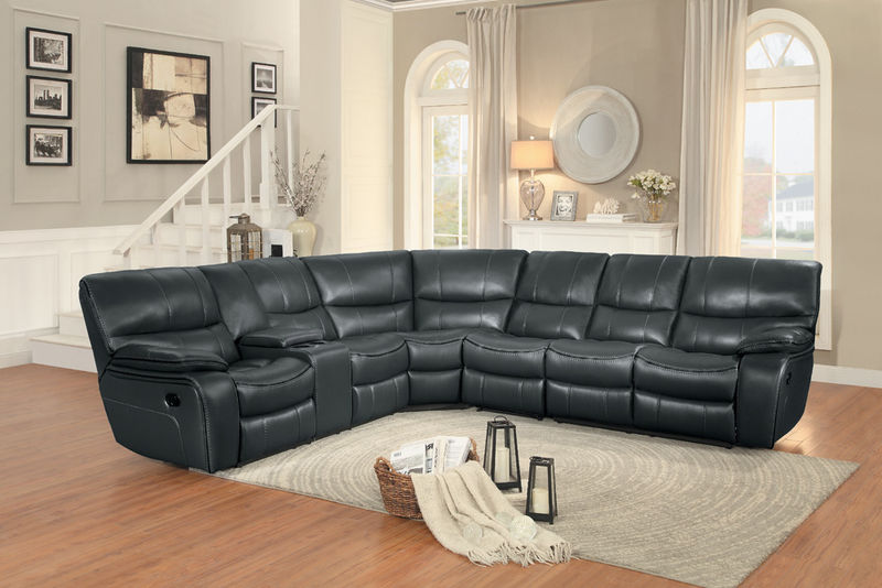 Pecos Reclining Sectional in Gray