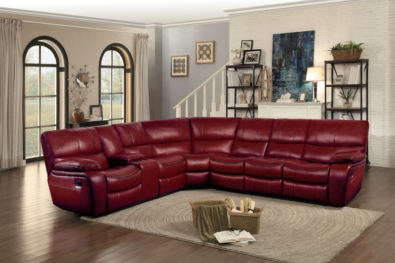 Pecos Reclining Sectional in Red