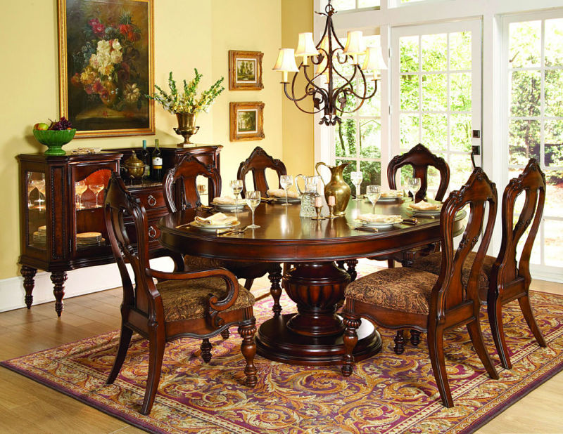 Prenzo Formal Dining Room Set with Oval Table