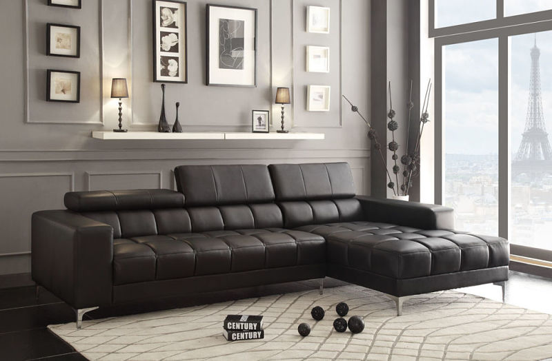 Quillen Leather Sectional