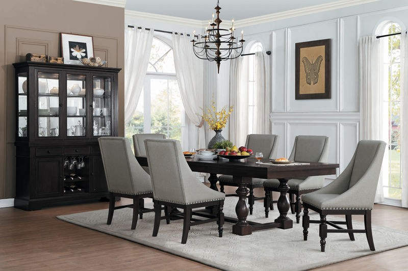 Reid Formal Dining Room Set With Arm Chairs