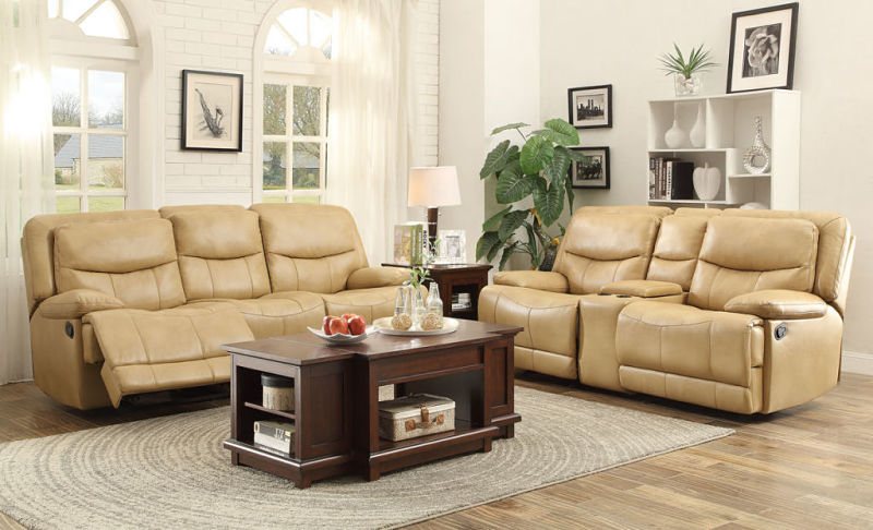 Risco Reclining Living Room Set in Taupe