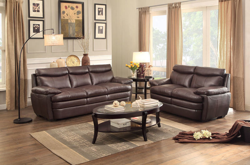 Rozel Leather Living Room Set