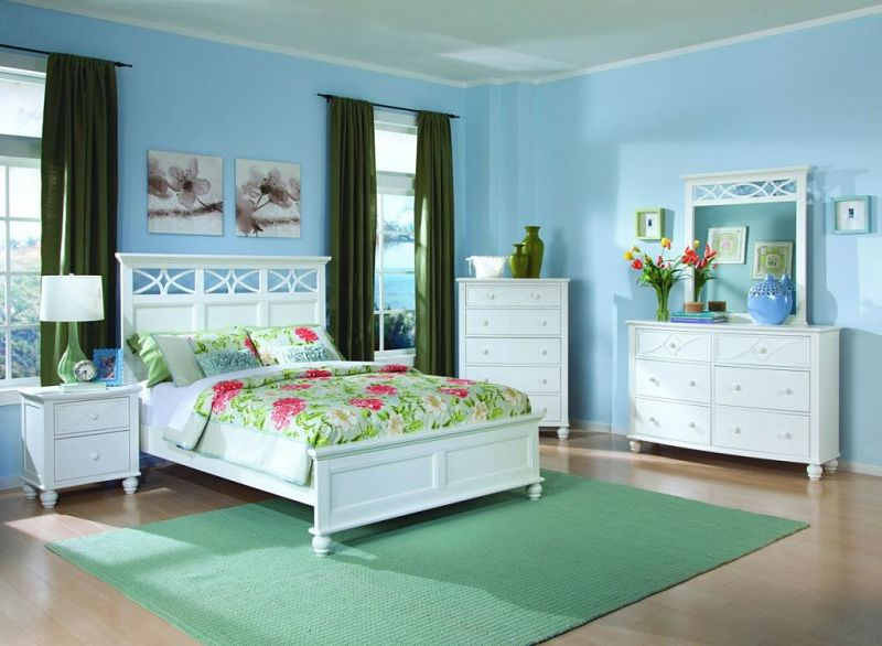 Sanibel Bedroom Set in White