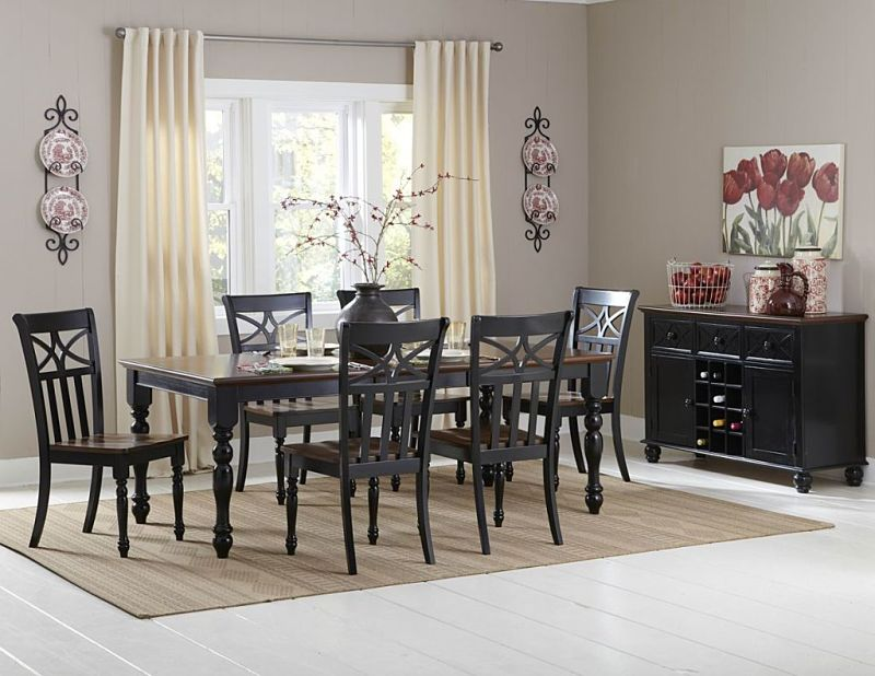 Sanibel Dining Room Set in Cherry/Black