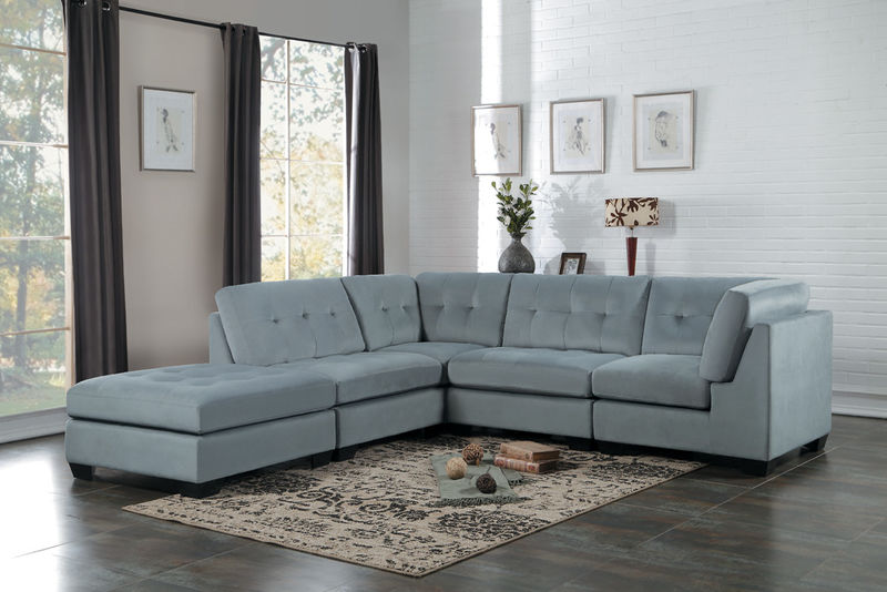 Savarin Sectional Sofa in Gray