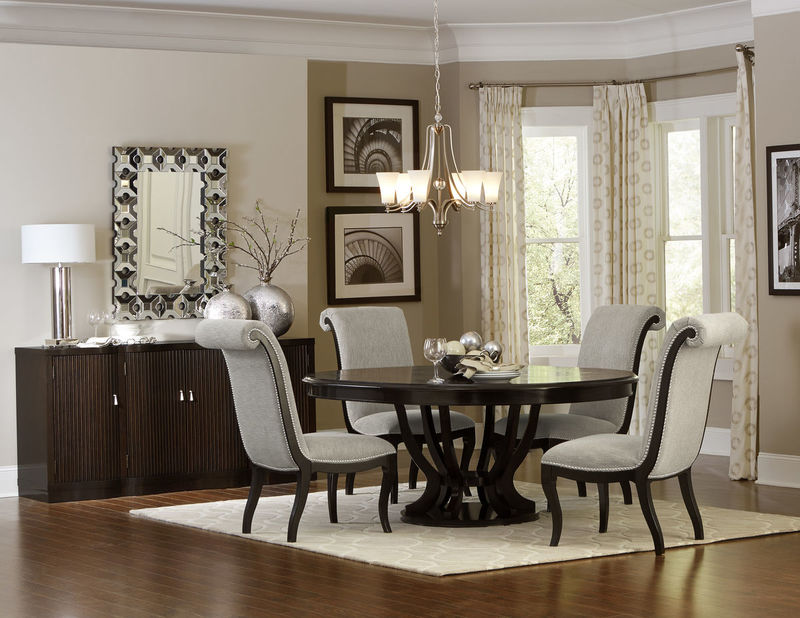 Savion Formal Dining Room Set with Round to Oval Table