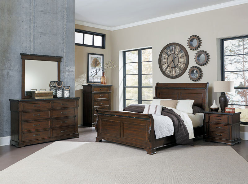 Schleiger Bedroom Set with Sleigh Bed