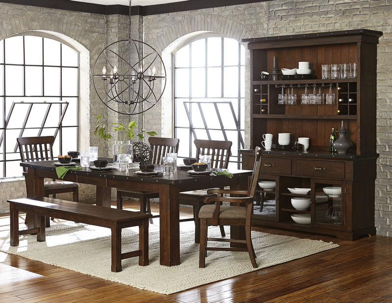 Schleiger Dining Room Set with Bench