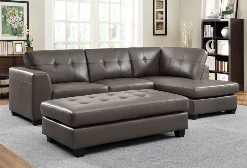 Springer Leather Sectional