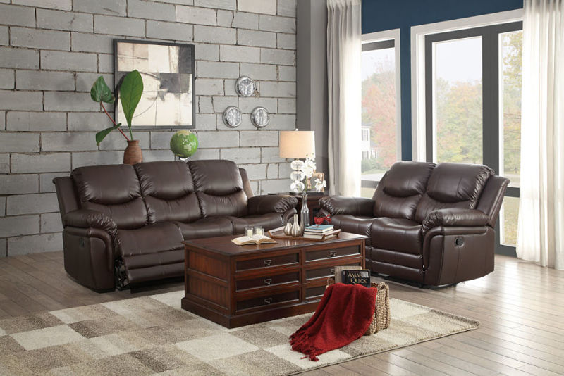 St. Louis Park Reclining Leather Living Room Set