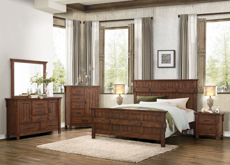 Terrace Bedroom Set in Oak