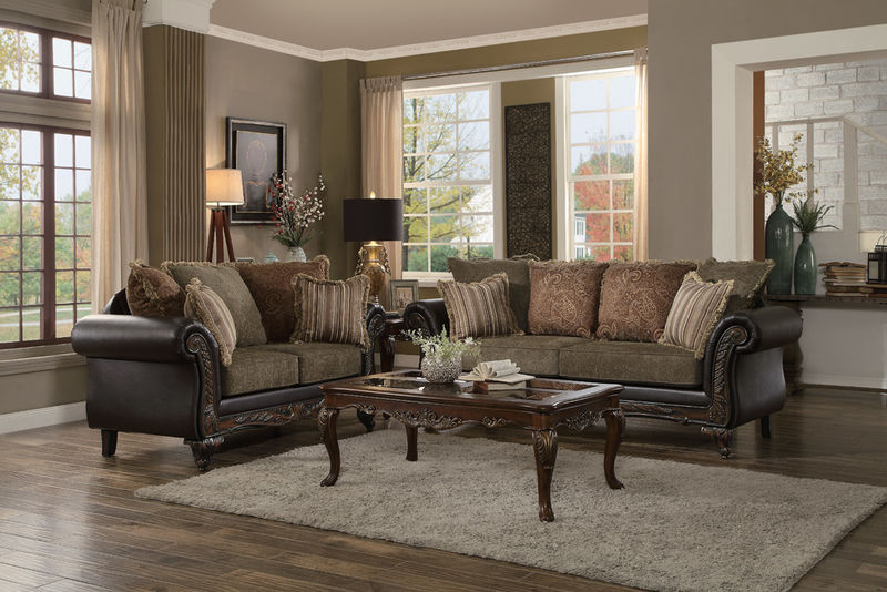Thibodaux Formal Living Room Set in Brown