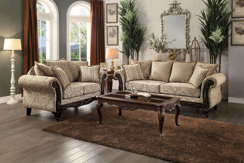 Thibodaux Formal Living Room Set in Neutral