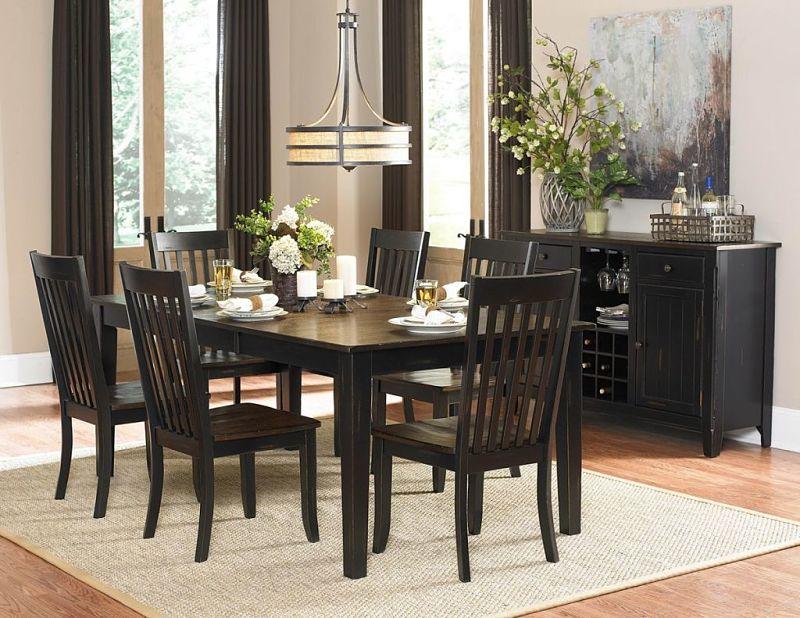 Three Falls Dining Room Set with Leg Table
