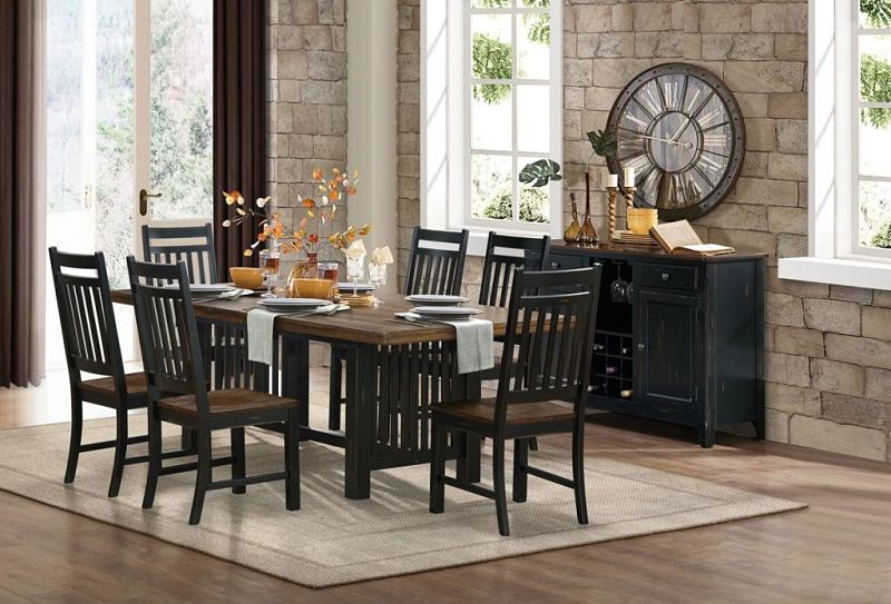 Three Falls Dining Room Set with Trestle Table
