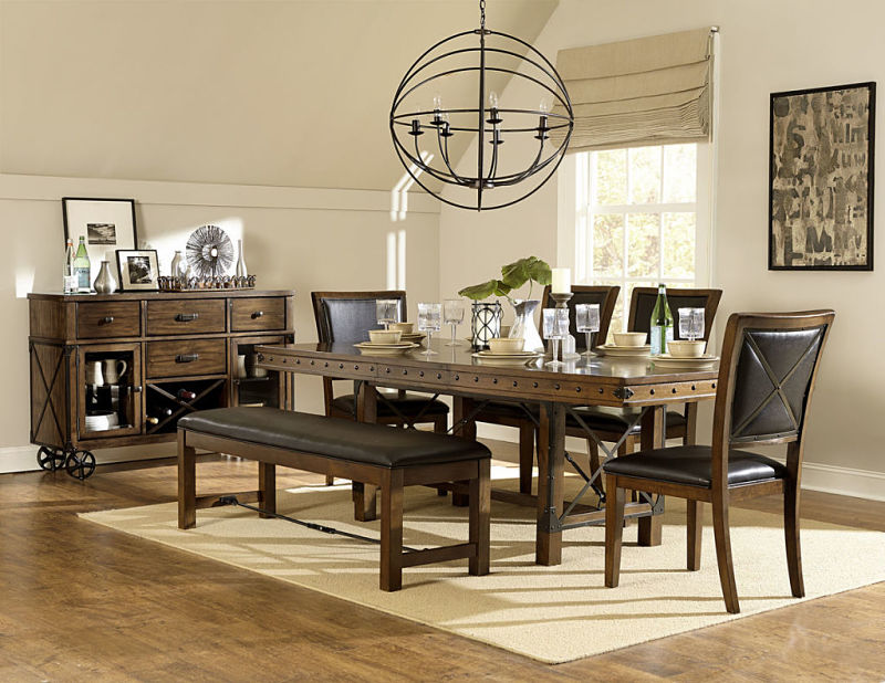 dallas designer furniture urbana dining room set with bench
