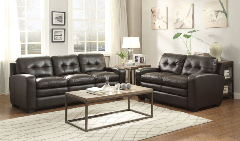 Urich Leather Living Room Set