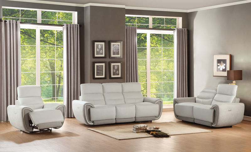 Valda Reclining Leather Living Room Set