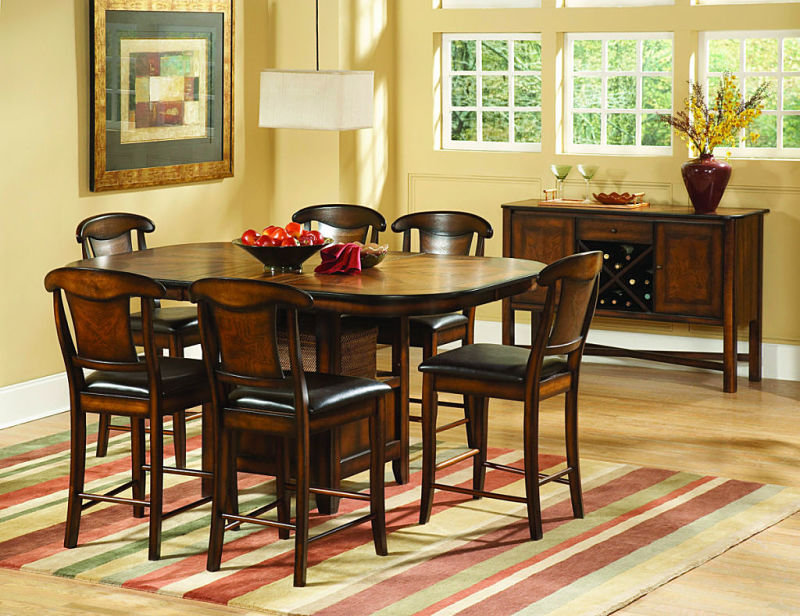 Westwood Counter Height Dining Table Set with Napoleon Chairs