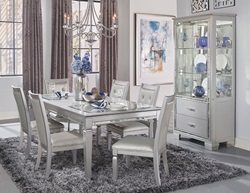Allura Dining Room Set in Silver