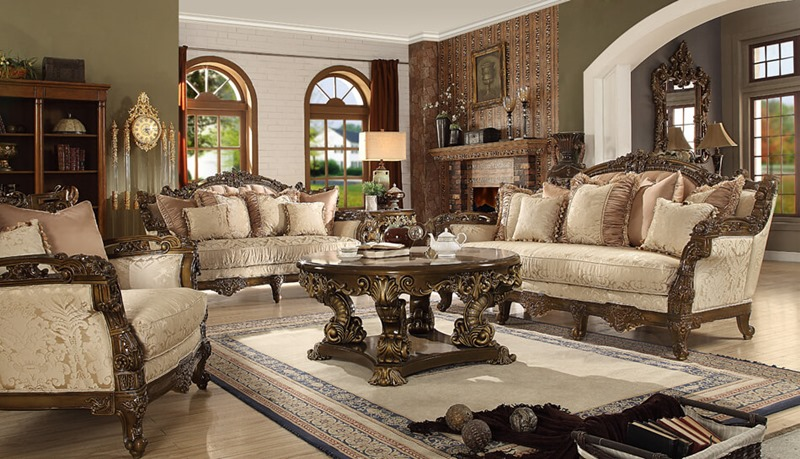 Homey Design Hd 1609 El Dorado Ii Formal Living Room Set