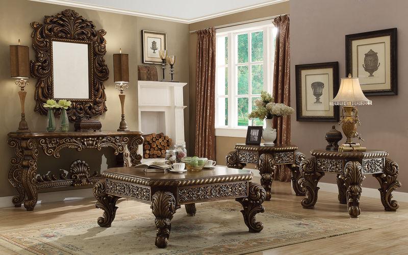 Homey Design Hd 1609 El Dorado Ii Formal Living Room Set