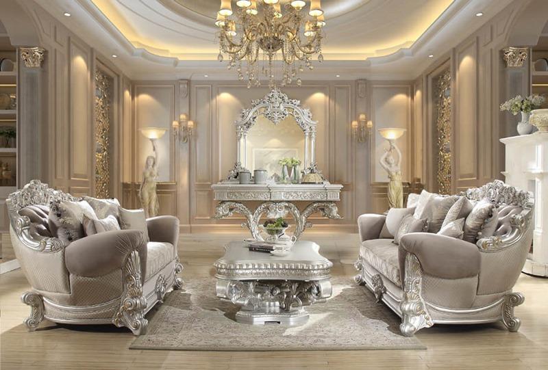 Homey Design Hd 372 Prosper Formal Living Room Set