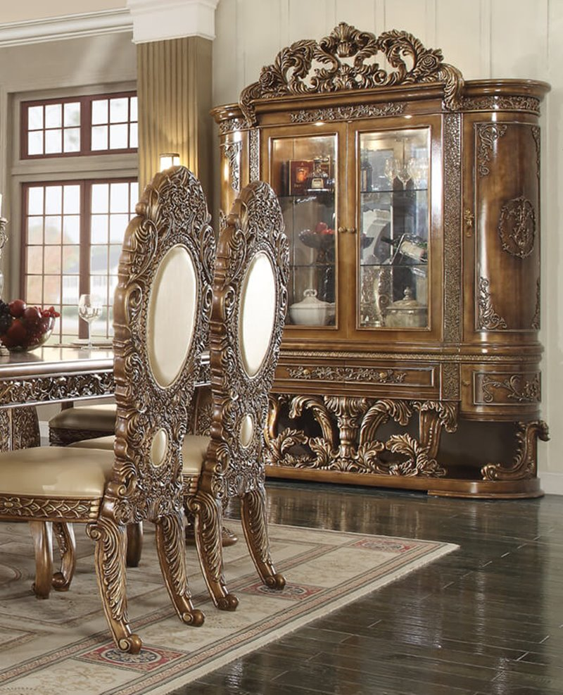 Traditional Dining Room Set: HD-8018-Dining Kamille Formal Dining Room