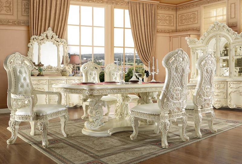 Homey Design Hd 8089 Long Belda Formal Dining Room Set