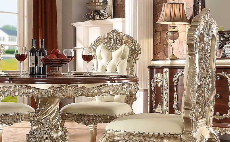 Devonshire Formal Dining Room Set with Round Table
