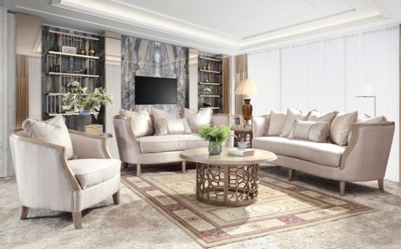 Ivana 3 Piece Formal Living Room Set