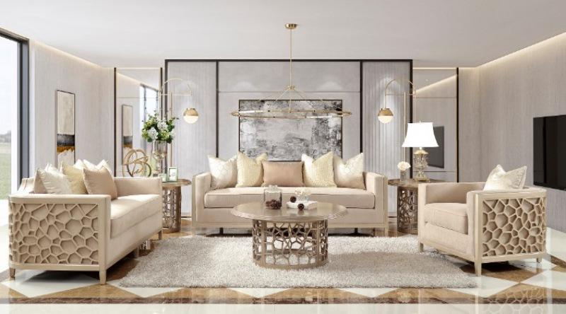 Hd 8911 Violeta 3 Piece Formal Living, 3 Piece Living Room Set