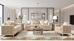 Violeta 3 Piece Formal Living Room Set