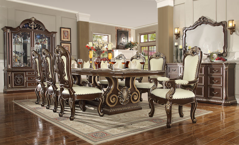 Valencia Carved Wood Traditional Bedroom Furniture Set 209000: Holloway Formal Dining Room Set