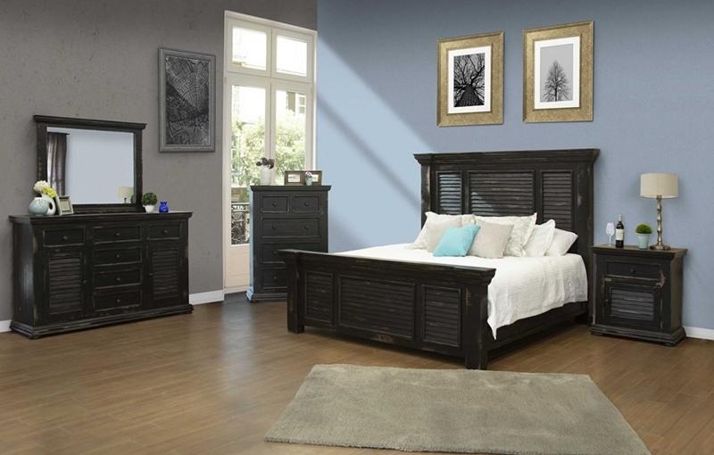 Cabo Black Bedroom Set