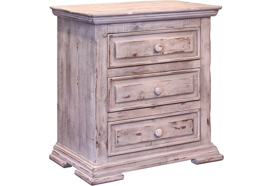 Terra White Rustic Night Stand *Clearance*