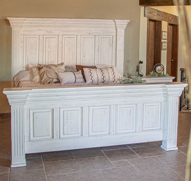 Terra White Rustic Queen Bed *Clearance*