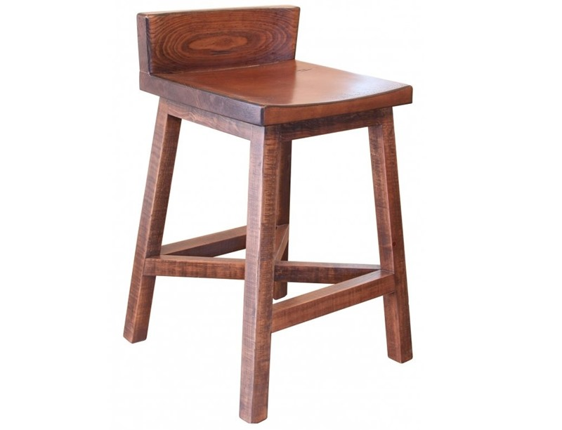 (2) Pueblo Counter Height Bar Stools *Clearance*