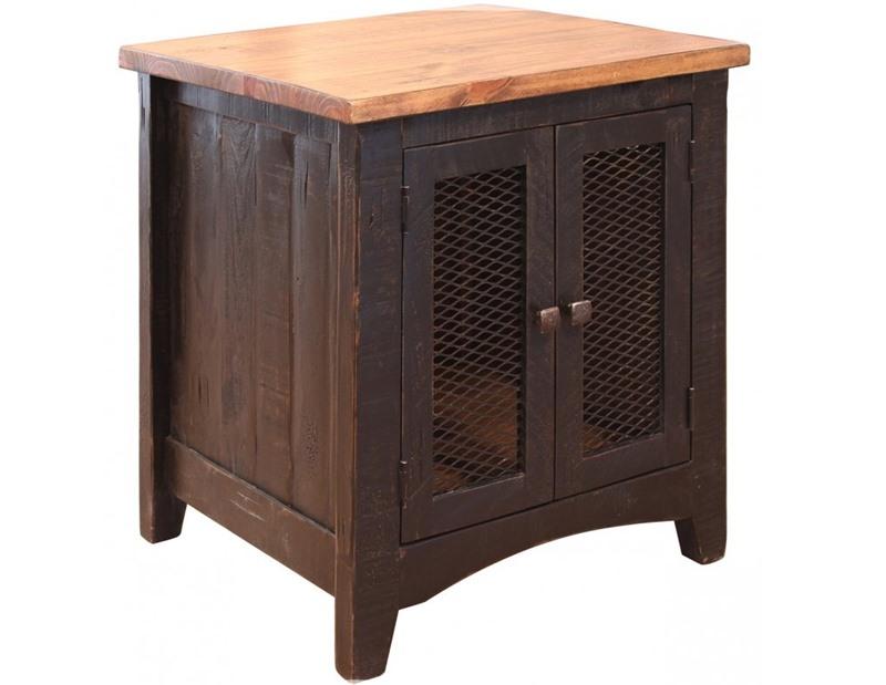 Pueblo Black Rustic End Table *Clearance*